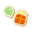 birthday gift and balloon