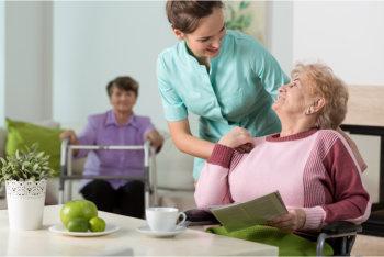 careigver comforting her patient