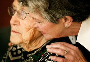 elderly patient having alzheimer's disease